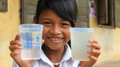 A Child's Hope Int'l is an approved partner with the P&G Children's Clean Drinking Water Program